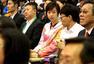 高清:张怡宁清新造型现身 助阵世乒赛捐赠球衣