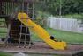 美黑熊携幼崽闯民宅玩滑梯 旁若无人