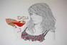 威尔士艺术:时尚洒脱的少女肖像插画