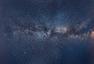 俄男子用110张照片拼出银河全景图
