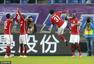 高清:泰达0-5华夏 野牛破门建功标志飞踢庆祝
