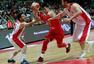 组图:男篮红队迎战伊朗 范子铭翟晓川强硬上篮