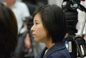 8月22日,发布会上记者队伍中的美女。搜狐体育 原生猪/摄