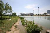 8月23日,北京奥运会男足决赛在鸟巢举行,这是鸟巢建成来首场足球比赛。本组图展示从奥林匹克公园步入鸟巢全过程。龚宇 摄