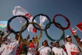 2008年7月9日,北京奥运圣火在内蒙古自治区鄂尔多斯市传递。