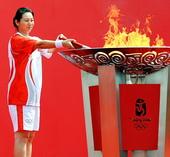 2008年7月14日,北京奥运圣火在吉林省长春市传递。
