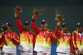 2009年10月27日,第十一届全国运动会棒球决赛在山东省体育局训练场进行,结果广东队5比3战胜解放...