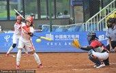 2010年11月20日,广州,2010年广州亚运会垒球循环赛,中国9-0横扫泰国。